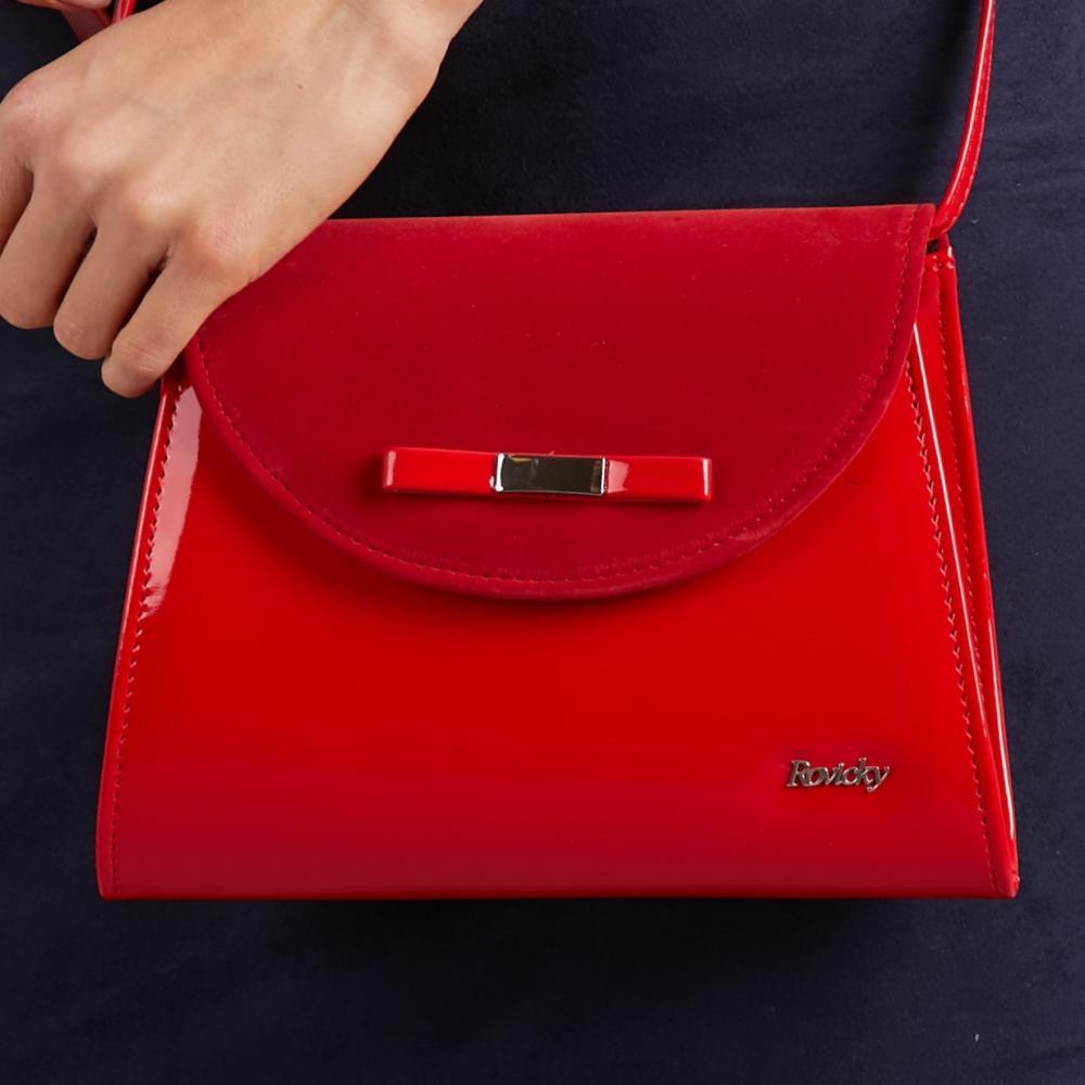 Červené dámské psaníčko / crossbody kabelka W54 ROVICKY